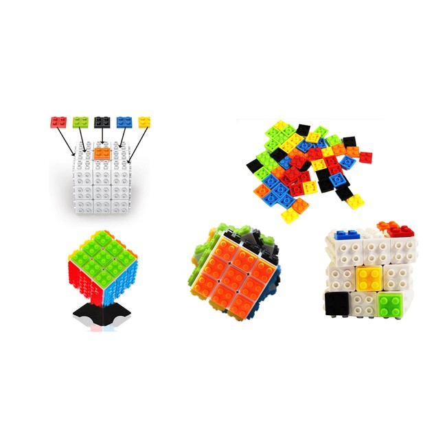 Zummy DIY Building Bricks Magic Speed Cube Puzzle