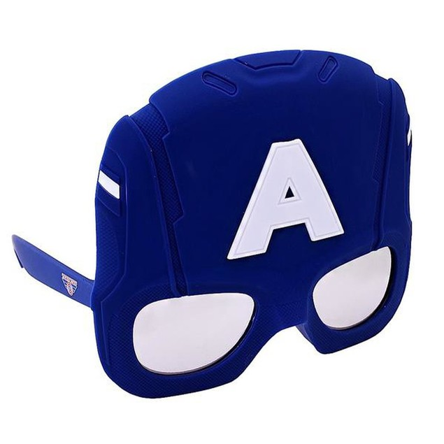 Captain America Helmet Sun-staches