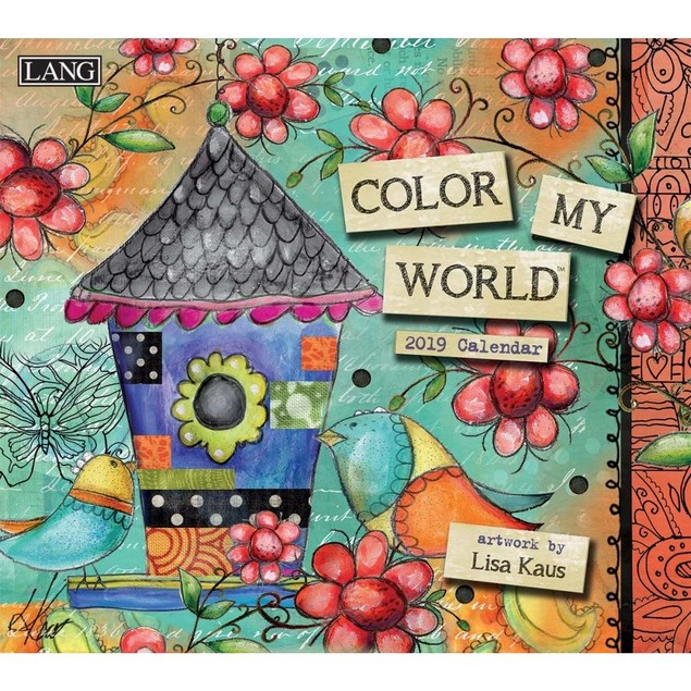 Color My World Wall Calendar, LANG Wall Calendar by Calendars