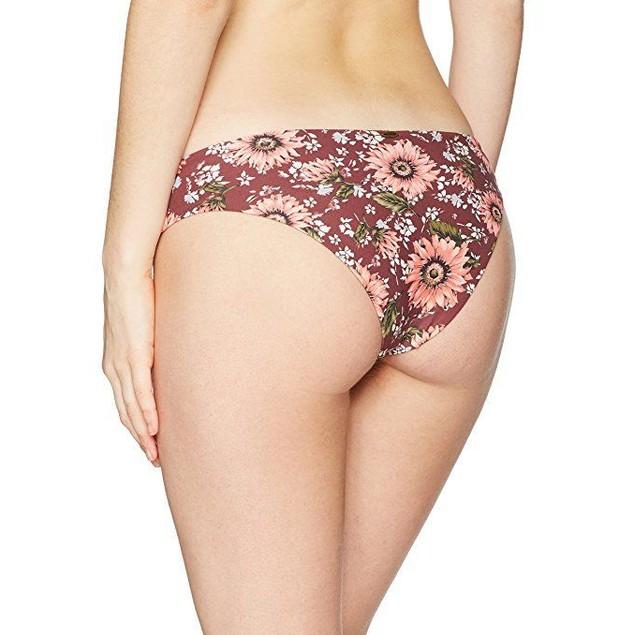 O'Neill Women's Viera Lace up Hipster Bikini Bottom, Mocha, L