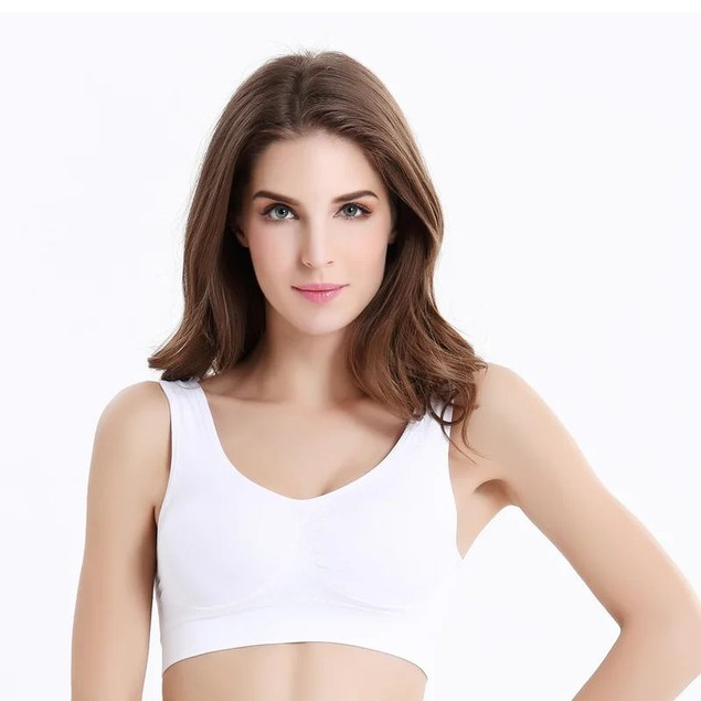 3-Pack Ladies Vest Wrapped Chest Single Layer Sports Bra