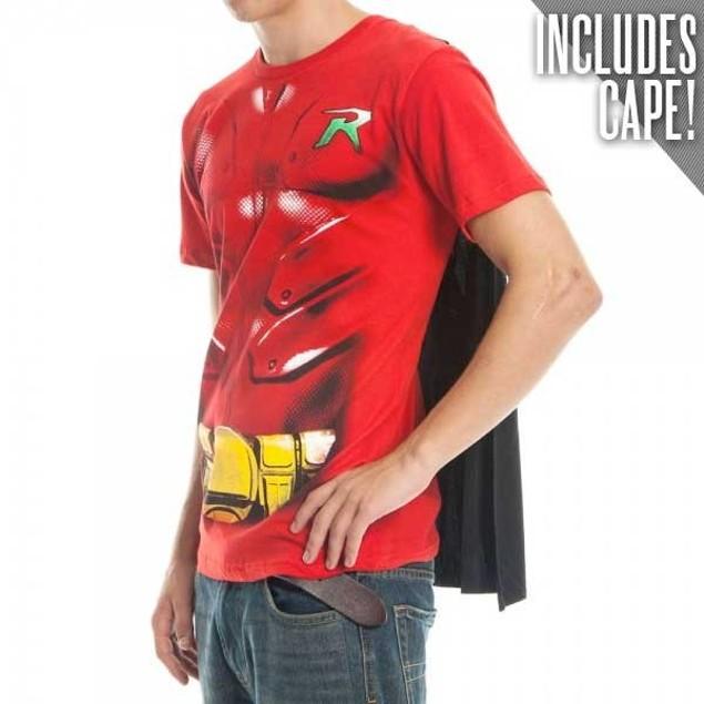 Robin Caped T-Shirt Costume