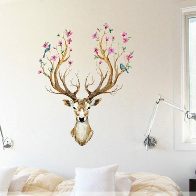 1pc Vinyl Wall Sticker Deer bedroom living room background Decor