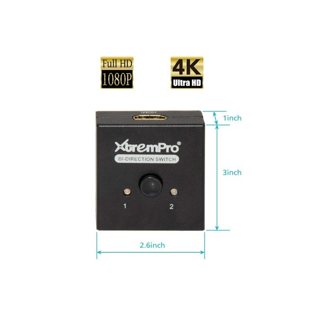 4K HDMI 4K 2 Ports Bi-Direction Switch 2 x 1 / 1 x 2 Hub-HDCP Passthrough