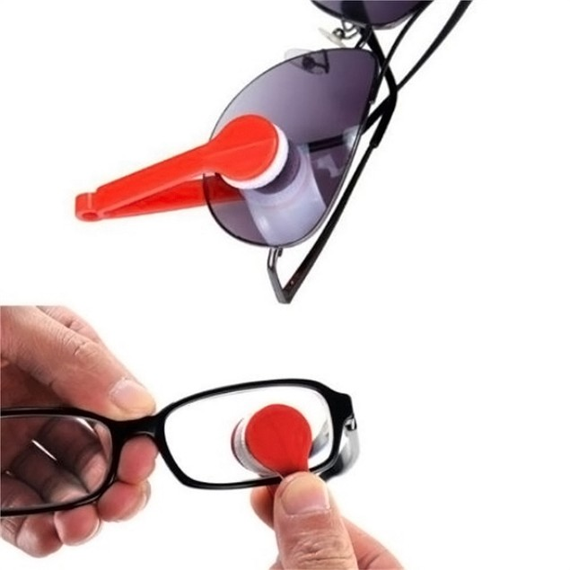 Sun Glasses Eyeglass Microfiber Spectacles Cleaner Brush Cleaning Tool LW