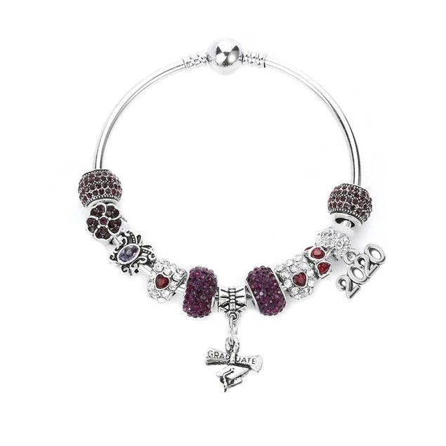Novadab Graduation Charm Bracelet-2020 (Size: 7.5 inches Weight: 60 grams)