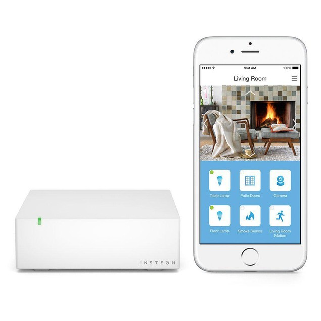 Insteon HUB - Monitor Cameras, Receive Instant Cloud Based Email, White