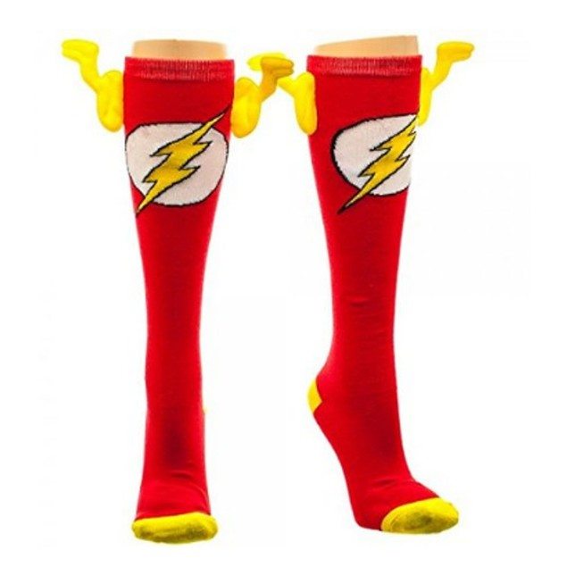 DC Comics Flash Knee High Socks with Wings Barry Allen CW Central City