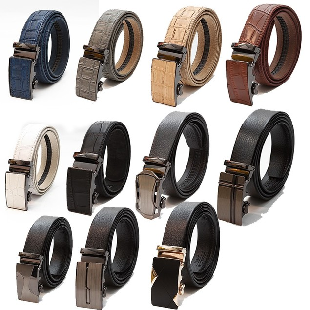 Mystery Deal 2-Pack : Men's Leather One Size Fits All Fashion Belt