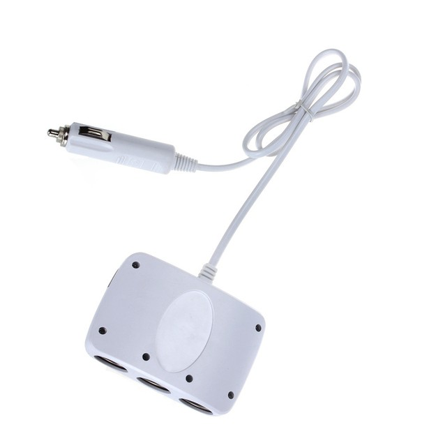 Three-Socket Car Charger Adapter Splitter - 3 Colors