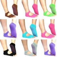 Deals on 5-Toe Non-Slip Exercise Socks