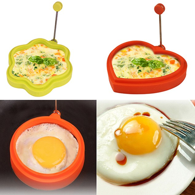 Cute Silicone Egg Pancake Ring Mold Shaper Cooking Tool