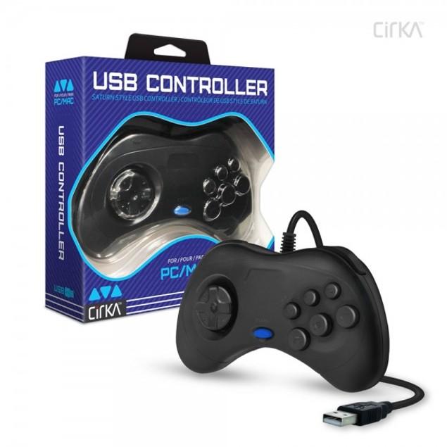 Saturn-Style USB Controller for PC/ Mac (Black) - CirKa