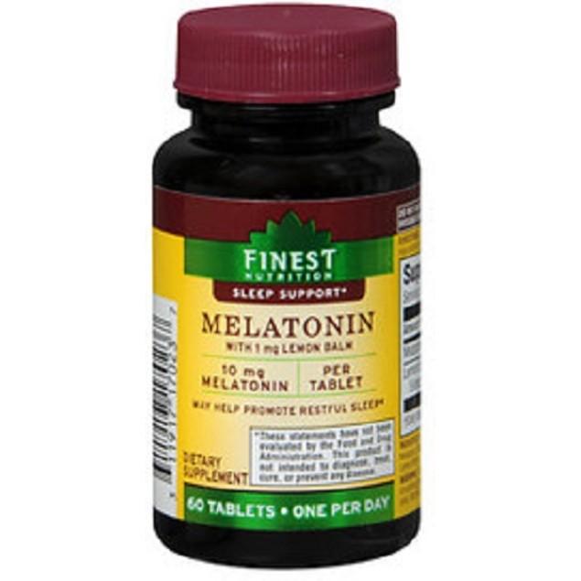 Finest Nutrition Melatonin 10mg Dietary Supplement 60 Tablets