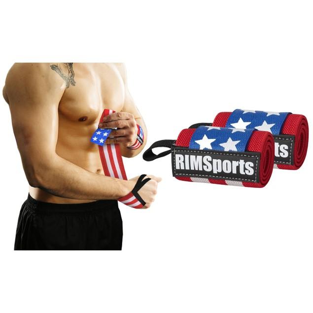 RIMSports American Flag Wrist Wrap for Weightlifting