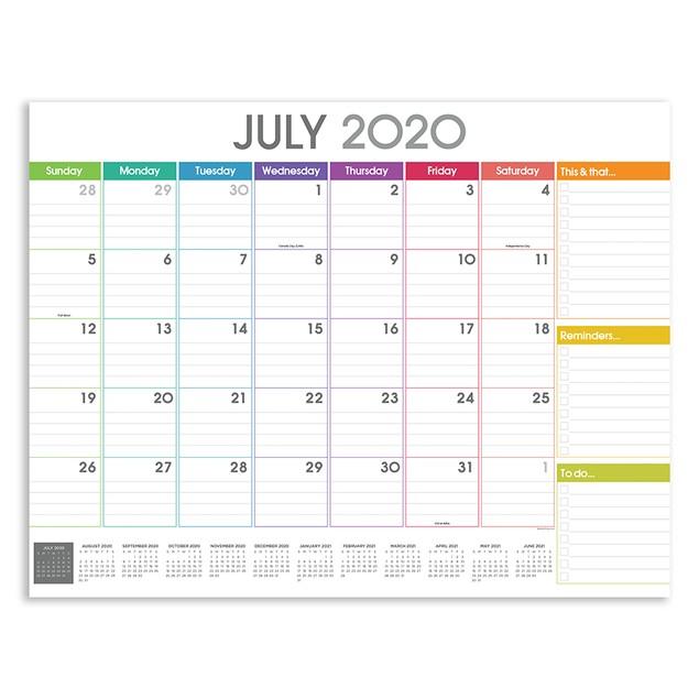 July 2020 - June 2021 Large Desk Pad Monthly Blotter ...