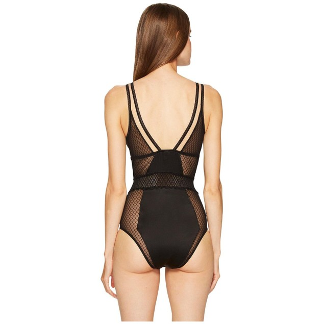 Else Women's Lattice Bodysuit Black $275 SIZE LARGE
