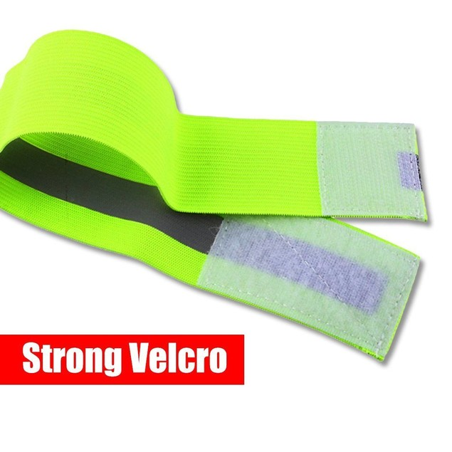 Zone Tech Safety Reflective Arm Band Belt Strap Sports Night Running