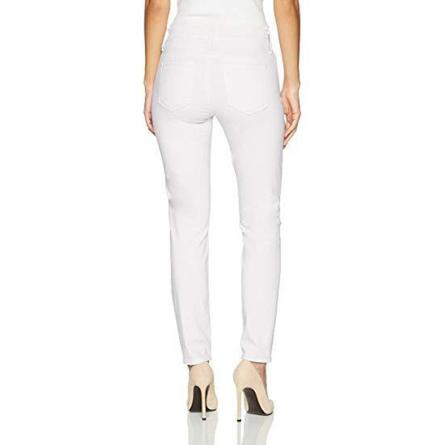 NYDJ Women's Petite Size Alina Ankle Jeans, Pure Optic White, 12P