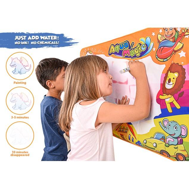 BritenWay Magic Aqua Board Large Water Drawing Mat for Kids