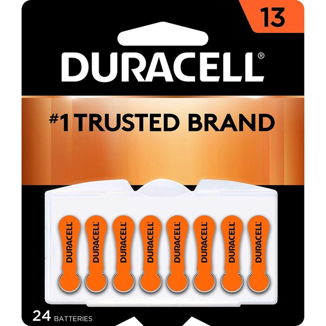 Duracell - Hearing Aid Batteries Size 13, Long Lasting Battery, 24 Count,