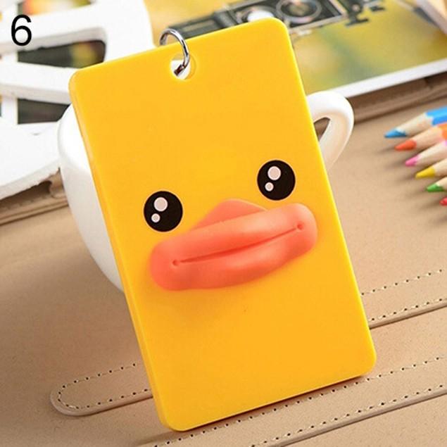 PVC Credit Card Holder Keyring Key Chain Sleeve Set Bus Card Case Bag