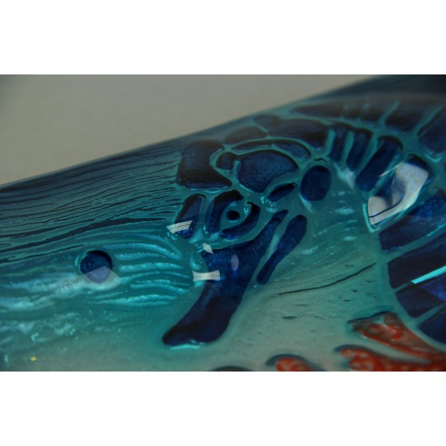 Transparent Blue Coastal Seahorse And Coral Decorative Trays