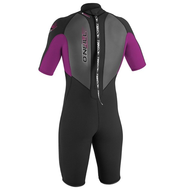O'Neill Wetsuits Youth 2 mm Reactor Spring Suit, Black/Pink/Black, SZ: