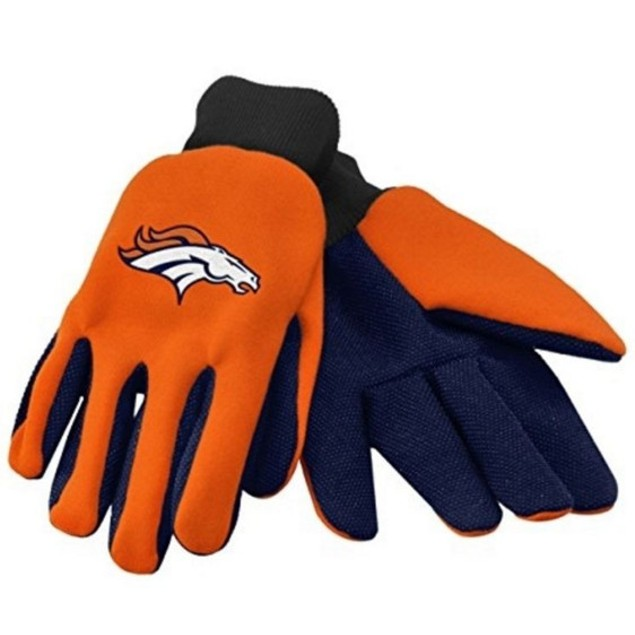Denver Broncos Work Gloves Forever Collectibles Accessory Adult Mens