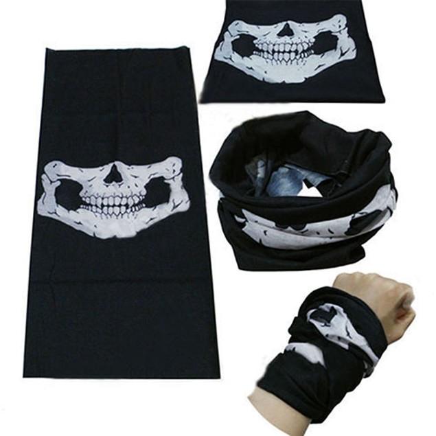 Skull Cycling Bicycle Scarf Multi Use Neck Warmer Face Mask