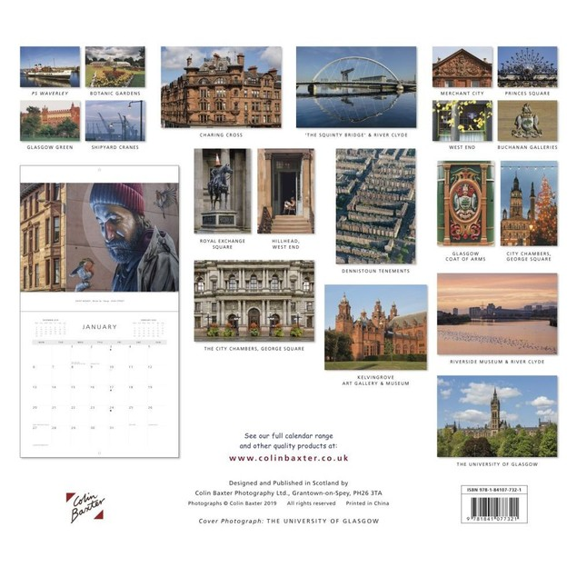 Glasgow Wall Calendar, Scotland by Calendars
