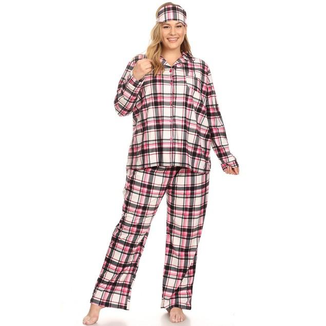 Three-Piece Pajama Set - 10 Colors