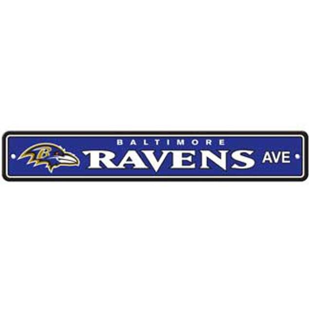 "Baltimore Ravens Ave Street Sign 4""x24"""