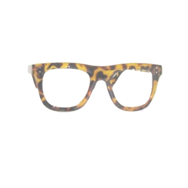 Nerd Tortoise Glasses With 2 Dots In Corners