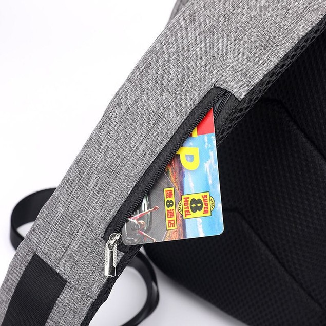 Prestige Anti Theft Chest Bag With USB Charger - 2 Colors
