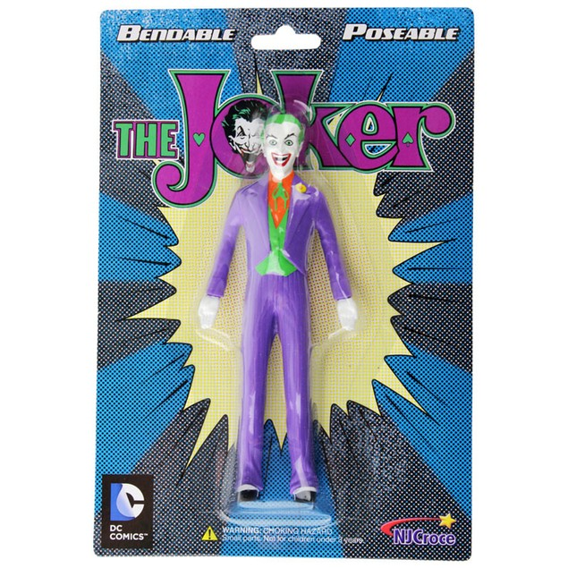 The Joker Bendable Figure Posable Classic TV Gotham Batman DC 5.5 Inch