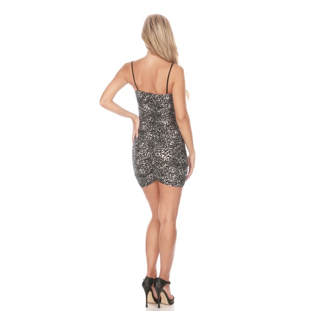 Animal Print Dress with Tie Up Leather Detailing