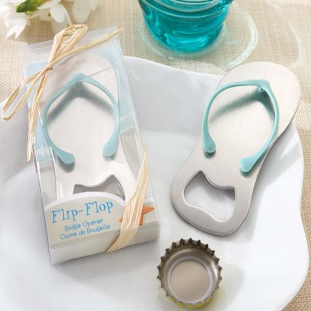 Beach Flip Flops Bottle Opener Corkscrew Bridal Shower Wedding Favors