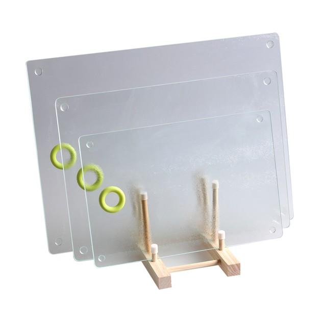 Rough surface glass breakfast board 7.9inch x 11.8inch 20x30cm