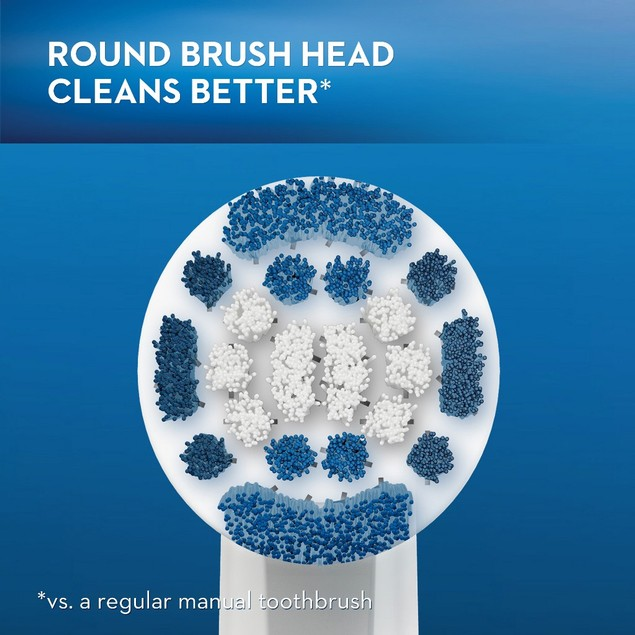 Oral-B Precision Clean Replacement Electric Toothbrush Head, 2 Count