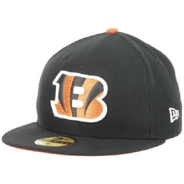Cincinnati Bengals NFL New Era 59Fifty On Field Flat Bill Fitted Hat