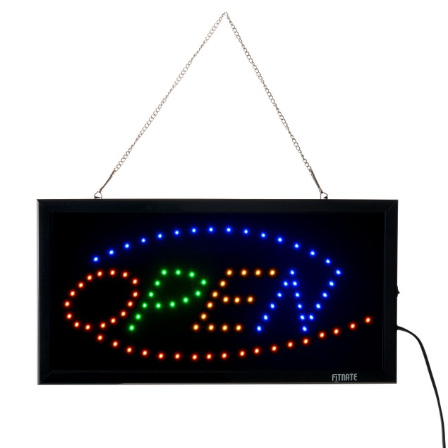 OPEN Sign Electric Billboard Advertising Board Flashing Window Display Sign