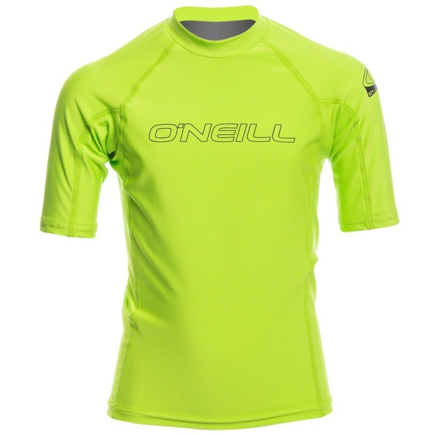 O'Neill Wetsuits UV Sun Protection Youth Basic Skins Short Sleeve SZ: