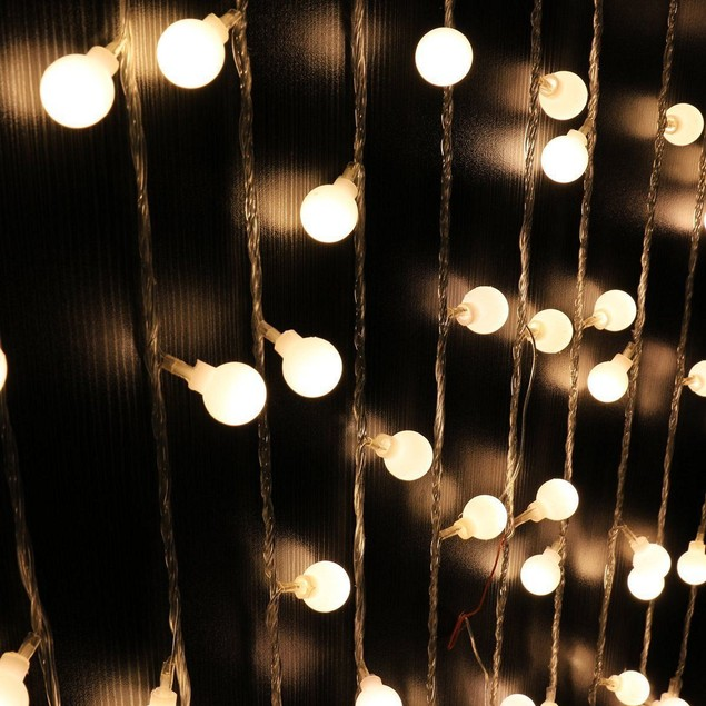 10m 100LED Globe Warm White Bulbs Frosted Xmas Outdoor Patio String Lights