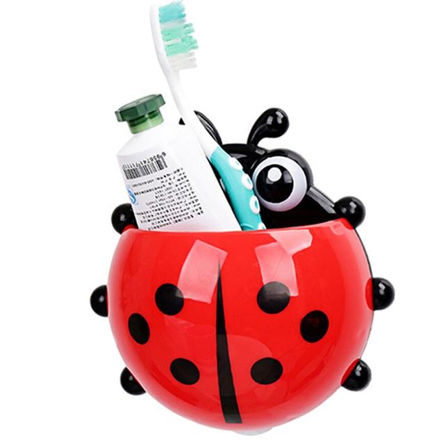 Ladybug Toothbrush Holder Suction Ladybird Toothpaste Wall Sucker