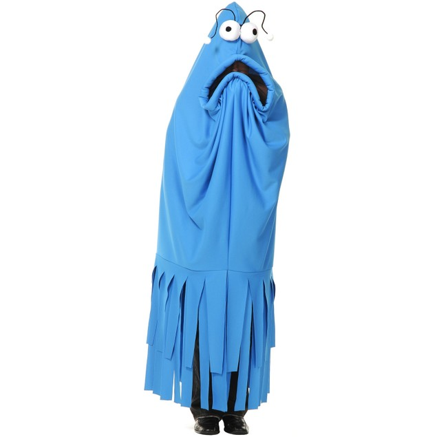 Monster Madness Blue Costume Yip Yips Sesame Street Series Adult Halloween
