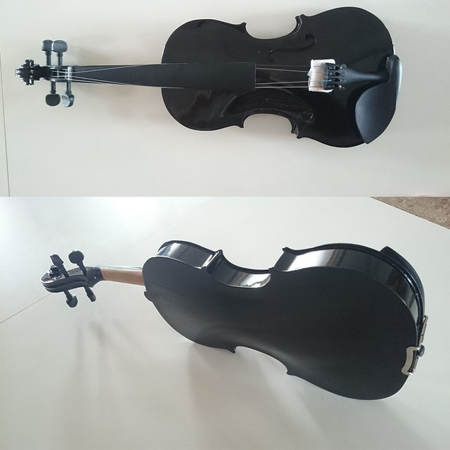Student Acoustic Violin Full 1/2 Maple Spruce with Case Bow Rosin Black