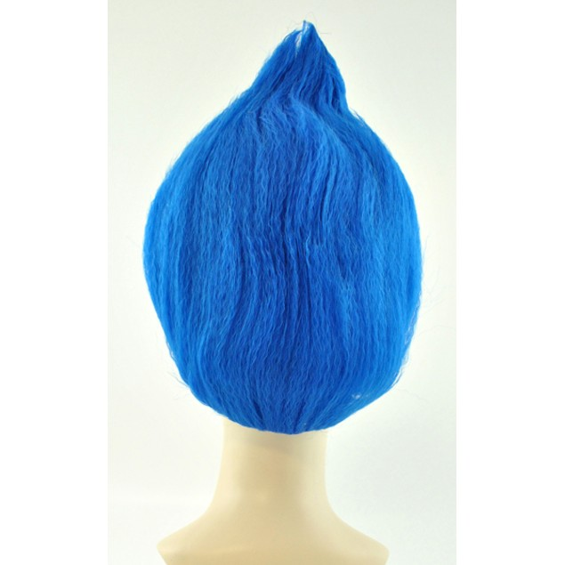 Blue Adult Troll Wig Thing 1 2 Gnome Clown Doll Costume Team Dr. Seuss 90's