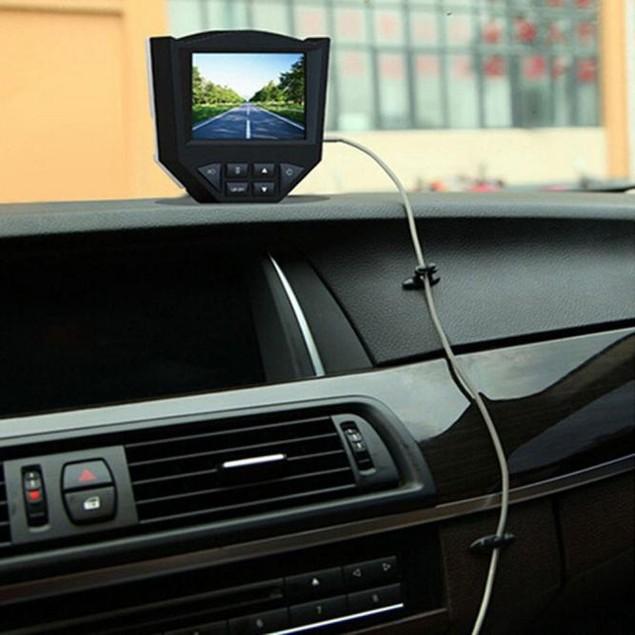 Car Charger Line Clasp Clamp Headphone/USB Cable Car Clip BK