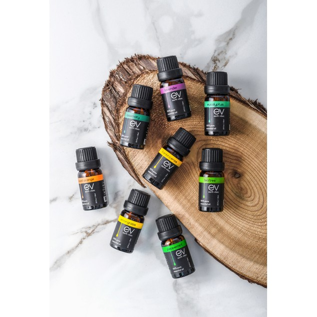 Earth Vibes Aromatherapy Top 8 Essential Oils Set